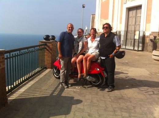 Vespa Tour Pompeii Sorrento 3
